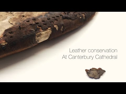 Leather Conservation - The Black Prince's Shield