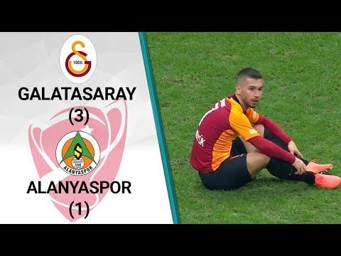 Galatasaray 3 - 1 Alanyaspor MAÇ ÖZETİ (Ziraat Türkiye Kupası Çeyrek Final Rövan