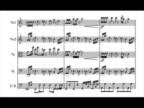 MeGaLoVania for String  Quintet with score
