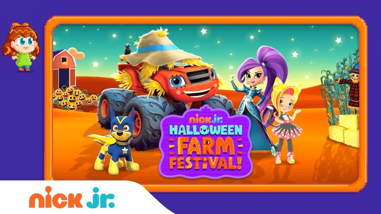? 'Halloween Farm Festival' Game Walkthrough ft. PAW Patrol, Blaze, & Sunny Day | Nick