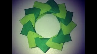 Origami: Corona Navideña - Hogar Tv  por Juan Gonzalo Angel