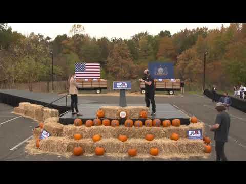 #LiveStream #USElections2020 | #Jill and Joe #Biden campaign in Pennsylvania| 24-10-20