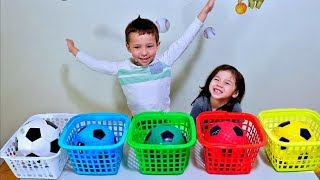 Wrong Colors Soccer Ball Drop In The Basket for Toddlers and Children