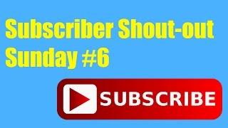 Subscriber Shout-out Sunday #6 | That's Amazing