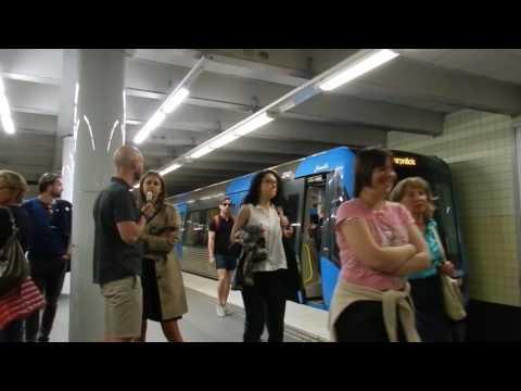 Stockholm - Public Transport - Skanstull Metro Station (Green Line Tunnelbana) 2016 05 08