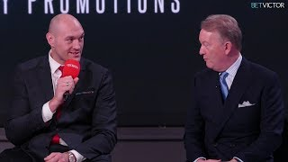 Tyson Fury PRESS CONFERENCE | BT Sport & ESPN | Frank Warren Boxing