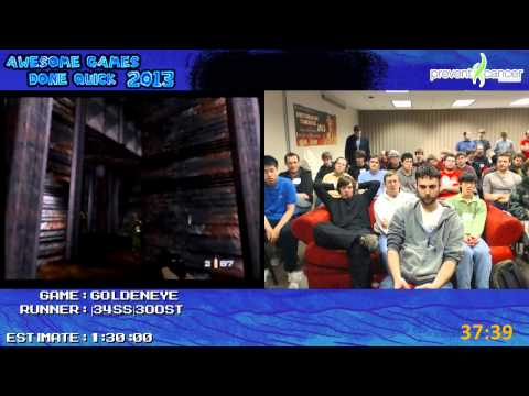 GoldenEye 007 - Speed Run in 1:20:47 (00 Agent, All Cheats Unlocked) by 34SS 300ST (AGDQ 2013) N64