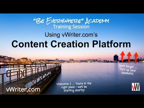 Content Creation Software: Using vWriter.com's Content Creat