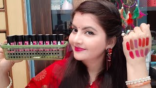 Elle18  color pop silk lipstick all shades swatches | AFFORDABLE lipstick for indian skintone | RARA