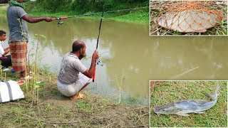 Catching Fish in River by Hook | Village Fishing