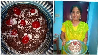 BLACK FOREST CAKE IN TAMIL | How to make black forest cake at home | Black Forest without microwave