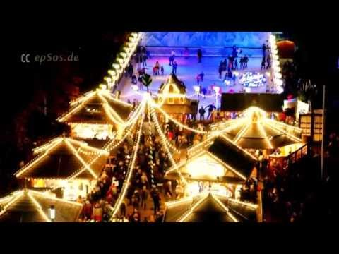 Christmas Market Lights of Stuttgart in Europe