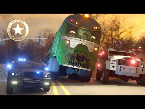 Sergeant Cooper the Police Car Part 4 - Real City Heroes (RCH) | In Search of the Stolen Crystal