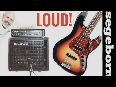 Fender Jazz Bass and Big Block at FULL VOLUME for that VINTAGE hard rock tone!