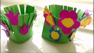 Flower amp Garden Crafts for Kids Ideas for Arts amp Crafts Projects amp Activities with flowers amp pots vases plants planters Instructions for Children Teens and