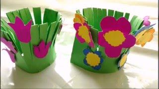 Easy Paper Craft Flower Garden Making For Kids Paper Craft Diy Youtube