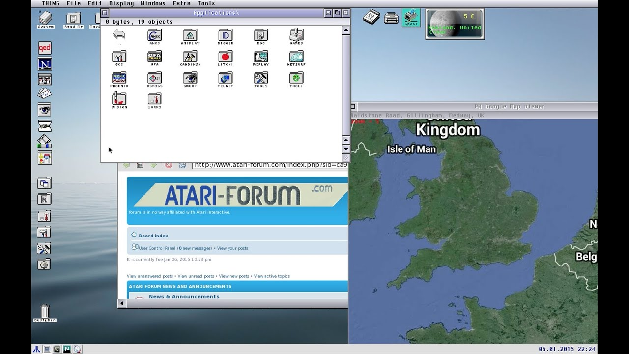EasyAraMiNT on iMac using Aranym