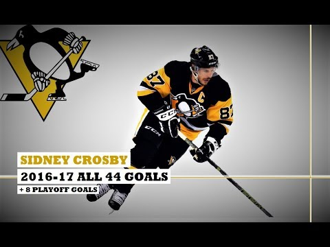 Sidney Crosby (#87) ● ALL 44 Goals 2016-17 Season + 8 Playof