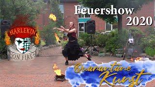 Feuershow mit Harlekin on Fire