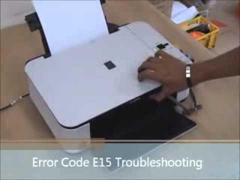 Printer Error Code E15 Canon MP258