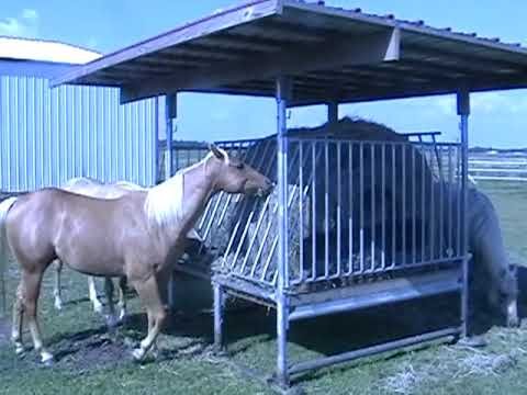 Klene Pipe Structures H-8 Hay Feeder for Horses - YouTube