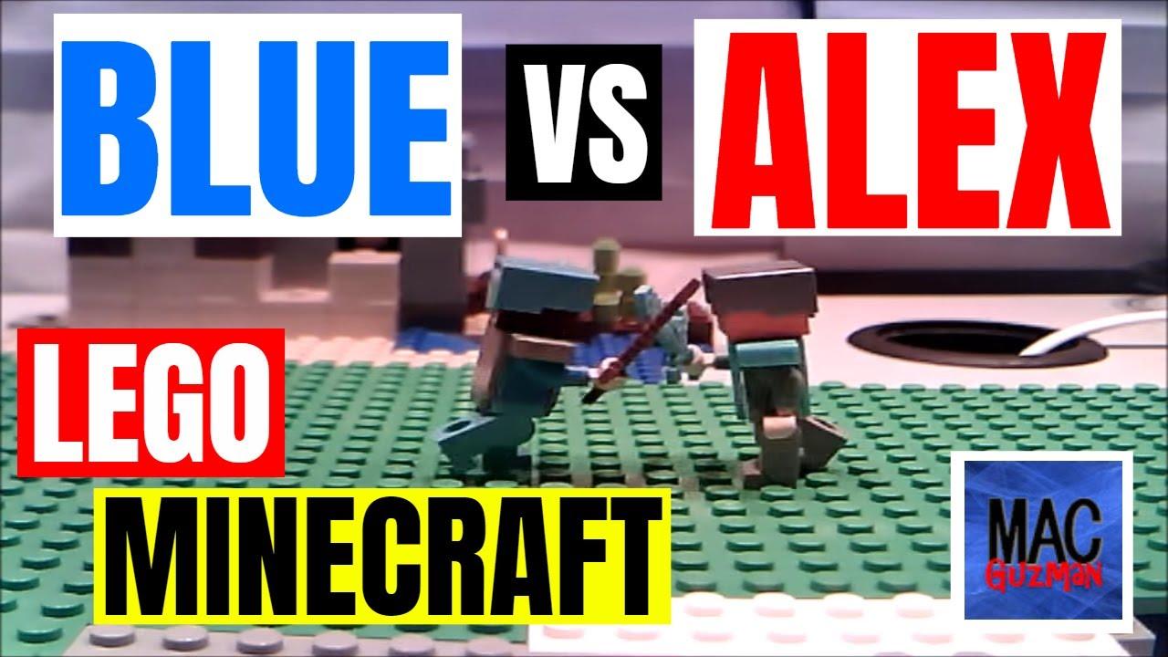 Lego Minecraft Stopmotion: Blue Versus Alex!!!