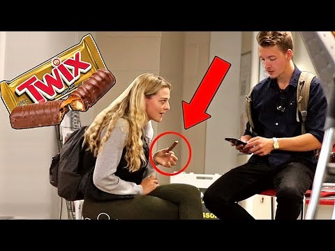 Picking Up Girls With Chocolate Bars!