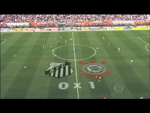 Corinthians 2 x 1 Santos Jogo de ida Final Campeonato Paulista 2013