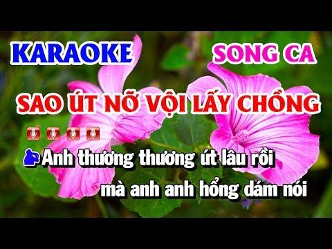 Karaoke Sao Út Nỡ Vội Lấy Chồng | Nhạc Sống Song Ca Abm Karaoke Thanh Hải