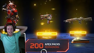 I opened 200 APEX PACKS in Apex Legends and this happened..