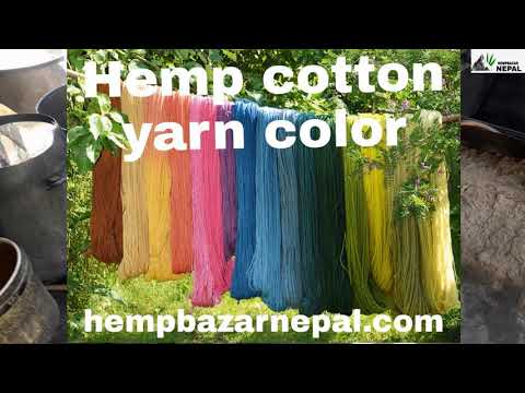 How to Make color Hemp Fabric, How to color cloth and Hemp cloth hempbazarnepal.com