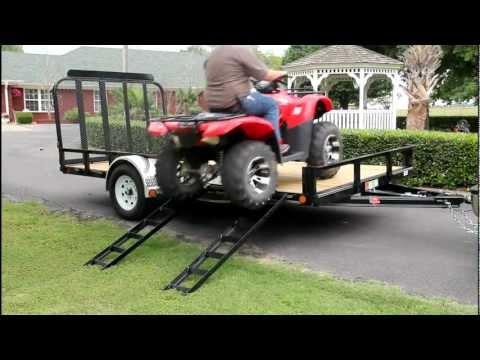 ATV Side Load Ramps on a PJ Utility Trailer
