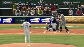 MLB 2k12 Modded Tigers @ Royals Full Game.