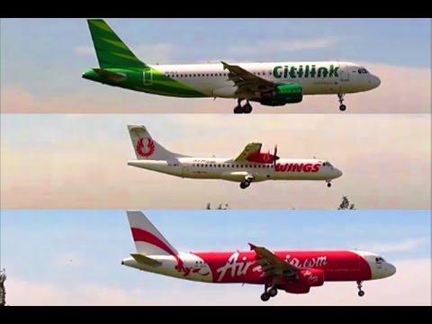 Landing and Take Off at Jogjakarta International Airport (JOG) :  Citilink, Wings Air, AirAsia