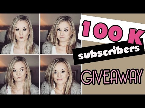 """100 000 subsrcibers """"Thank You"""" GIVEAWAY ♥ (CLOSED!)"""