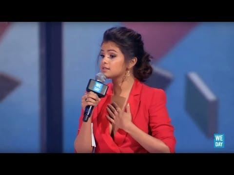 """Trust yourself"" - Selena Gomez speaks at WE Day California 2013"