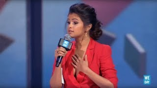 """trust yourself""   selena gomez speaks at we day california 2013"