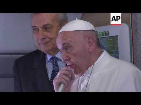 Papal Plane heads for Mexico via Cuba