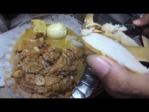 Indonesia Jakarta Street Food 1291 Part.1 Rice Cake Ketoprak Ketupat Sayur Permata Cikunir Bekasi