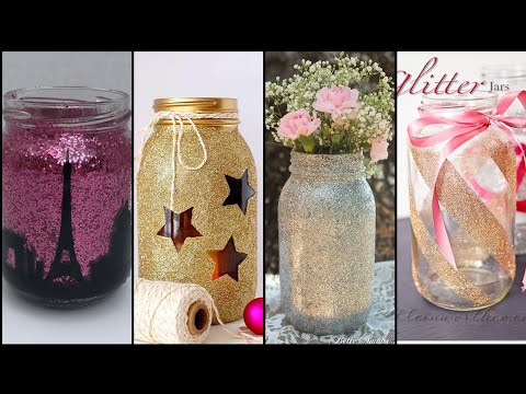 how-to-make-your-own-beautiful-giltter-jars-for-decor-||-diy-glitter-jar-craft-ideas