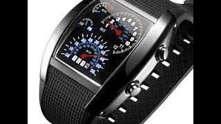Наручные LED часы «СПИДОМЕТР» приборная панель Обзор