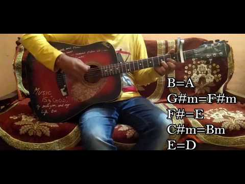 """tujhe-kitna-chahne-lage""/""kabir-singh""/easy-guitar-chords/full-lesson/tutorial/guitar-cover/mithoon"