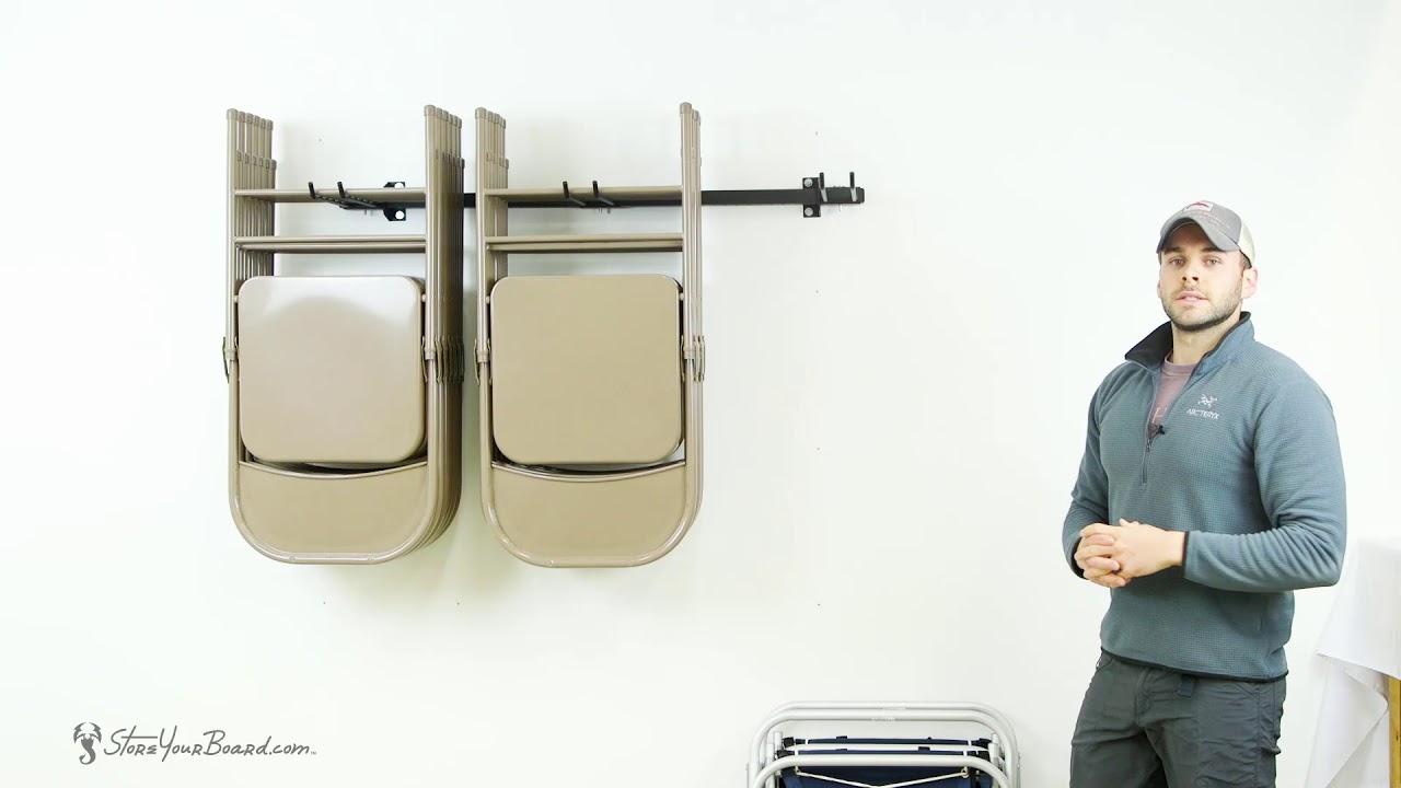 folding chair storage rack storeyourboard