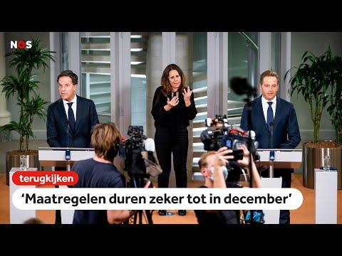 LIVE om 19u: kort persmoment Rutte en De Jonge