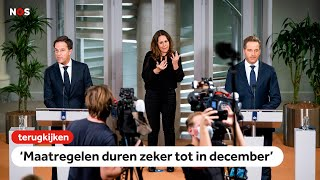 TERUGKIJKEN: 'Huidige maatregelen zeker tot in december van kracht'