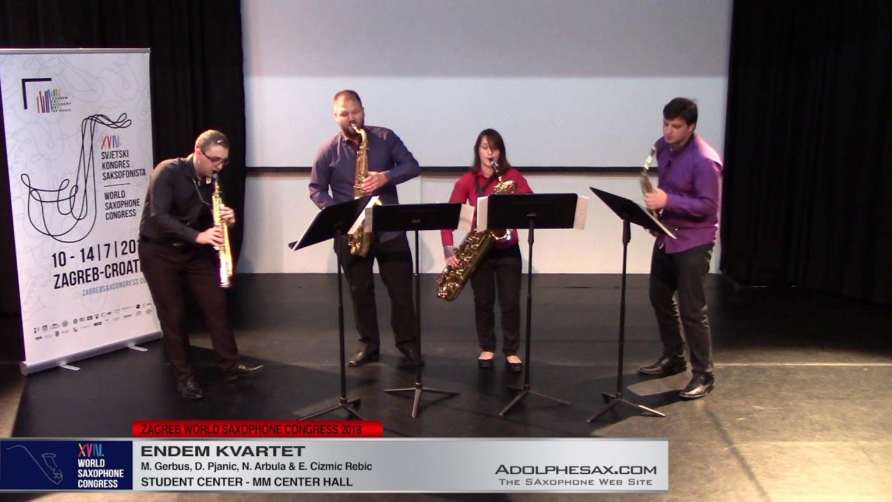 Zaboravljene muzike by Dubravko Detoni   Endem Kvartet   XVIII World Sax Congress 2018 #adolphesax
