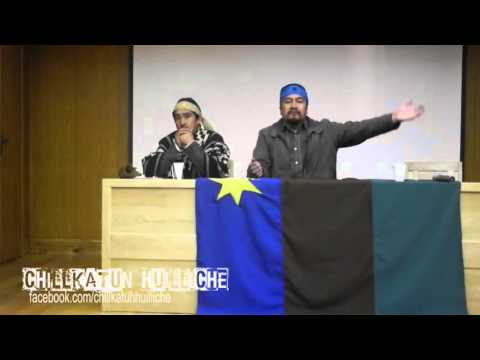 Chile: Héctor Llaitul, vocero de la CAM durante seminario Huilliche (Mapuche)