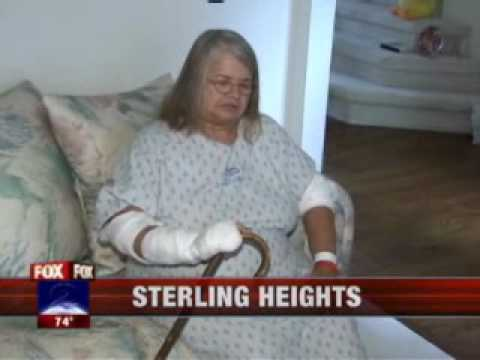 Pit Bulls Attack Elderly Woman