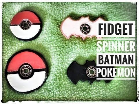 DIY fidget spinner batman pokebola pokeball  porcelana fria samymoro