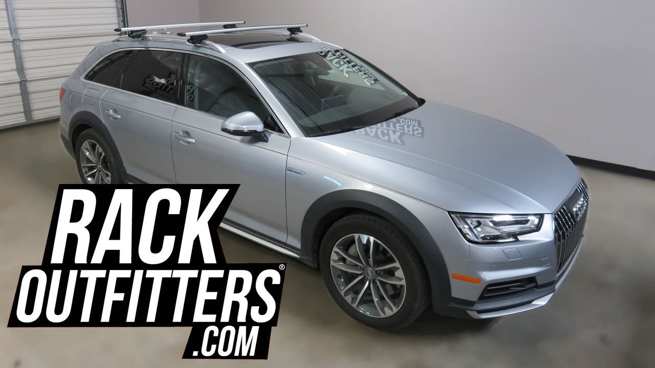 2013 To 2017 Audi A4 AllRoad Thule 450R Crossroad AeroBlade Roof Rack  Crossbrs